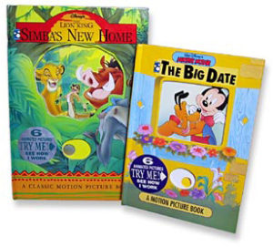 Lion King and Mickey Mouse 'Motion Picture Books' - Walt Disney Press - 1994